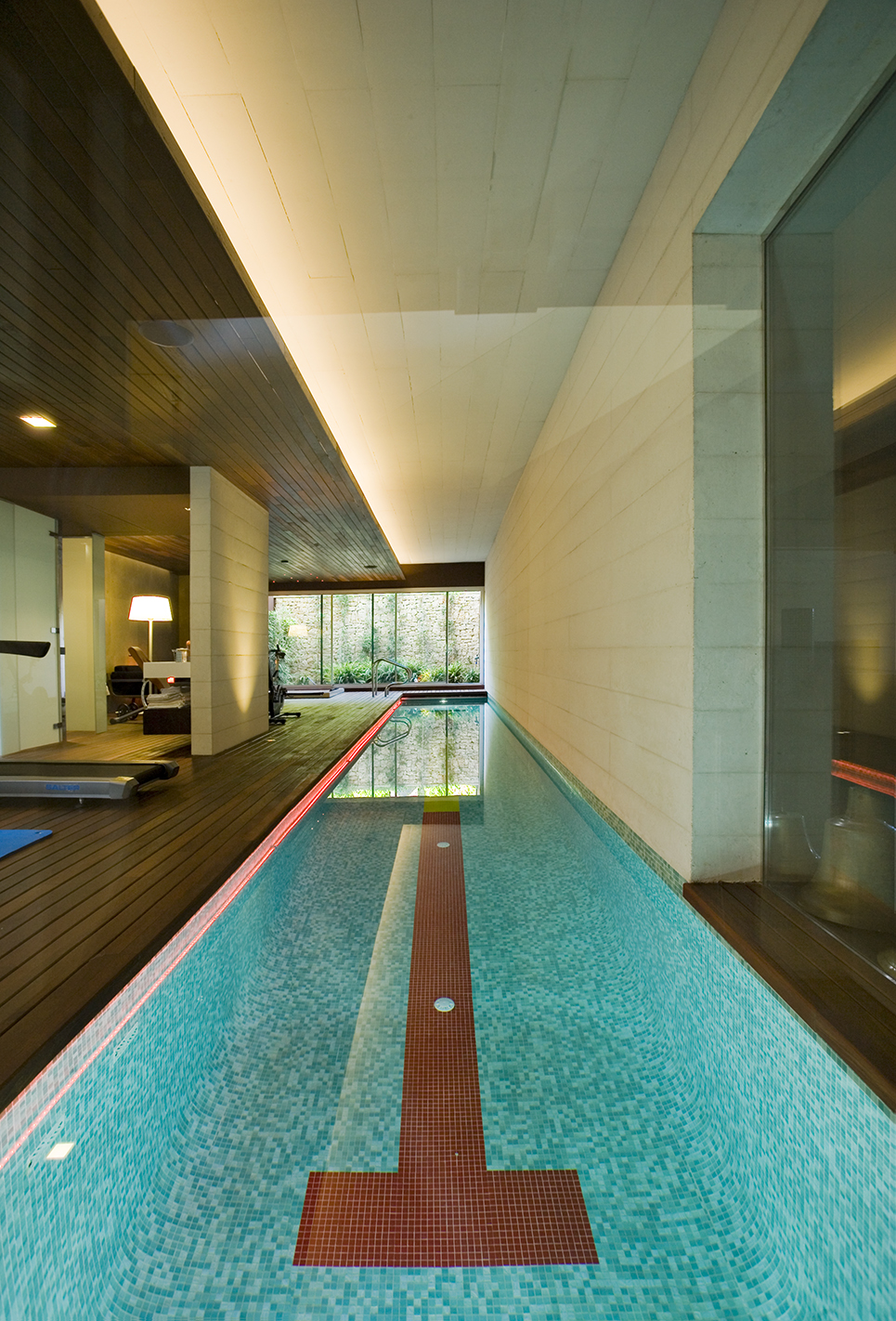 Basement swimming pool architectural photography
