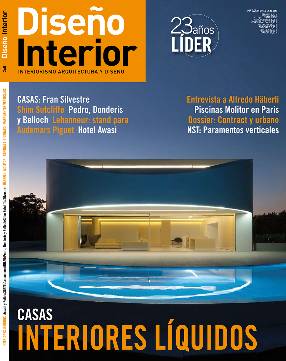 Design magazine cover of mediterranean house architectural photography