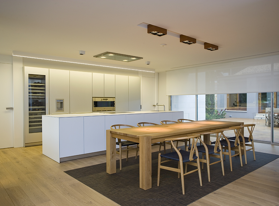 Kitchen in family house Denia interiors photography