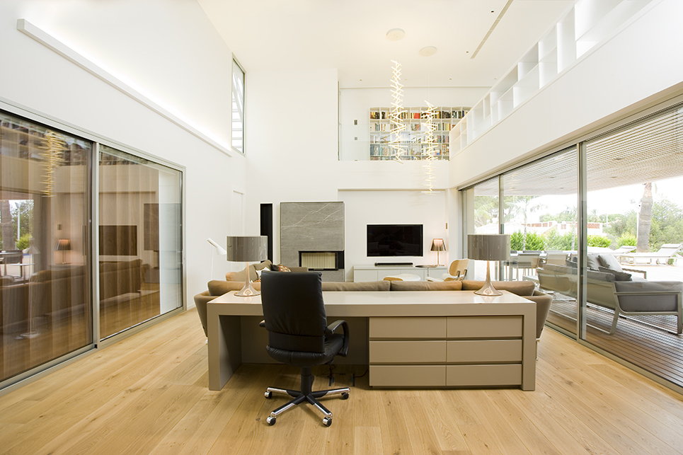 Office and living room architecture photography